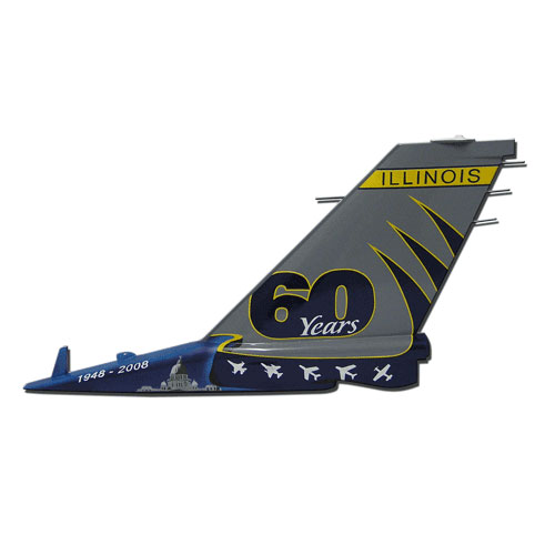 USAF F16 IL-60 years Tail Flash Wall Plaques