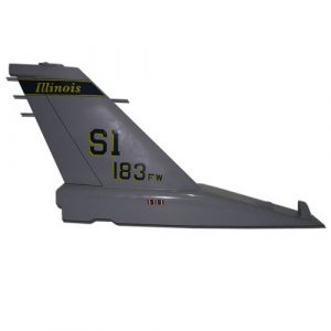 USAF F16-SI 183 FW Tail Flash Wall Plaque