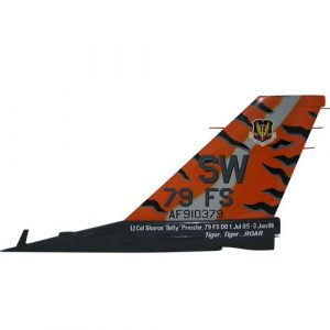 USAF F16 SW 79FS Tail Flash Wall Plaque