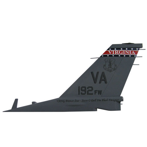 USAF F16-VA192FW Tail Flash Wall Plaque