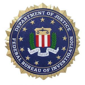 Federal Bureau Of Investigation FBI Seal / Podium Plaque