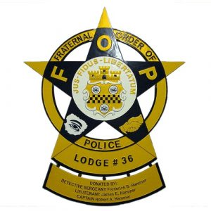 Fraternal Order of Police FOP Badge Plaque Model 2
