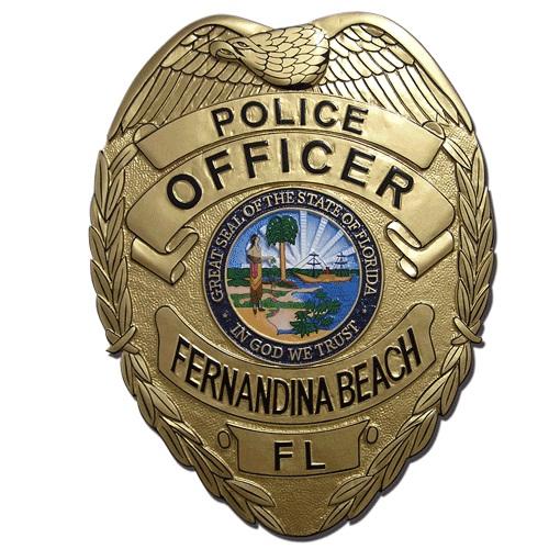 Fernandina FL Police Officer Badge Plaque