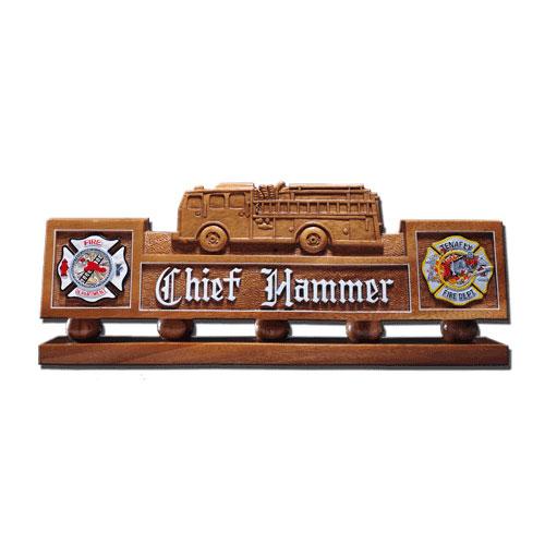 Fire Truck Desk Nameplate Model 2