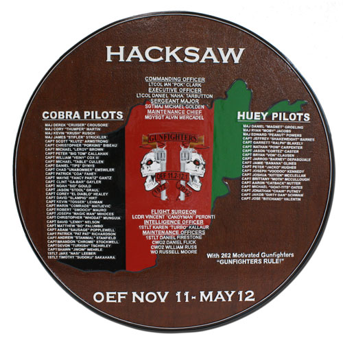 Hacksaw Deployment Plaque