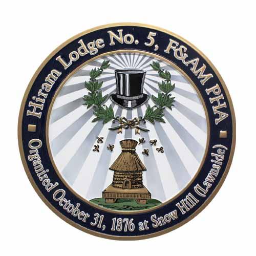 Hiram Lodge No 5 Seal