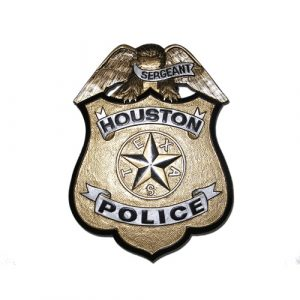 Houston Police Badge Plaque