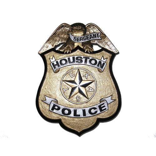 Houston Police Badge Plaque