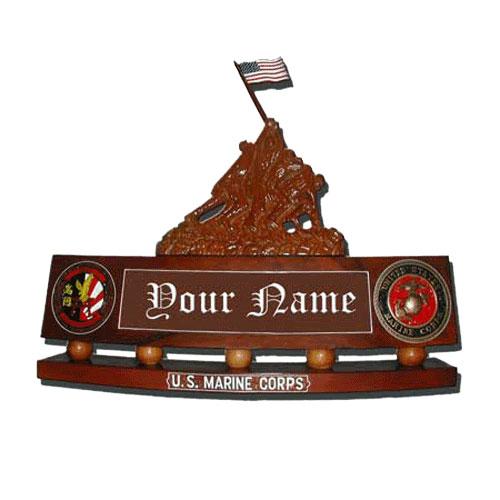 Iwo Jima Desk Nameplate Flag Raising