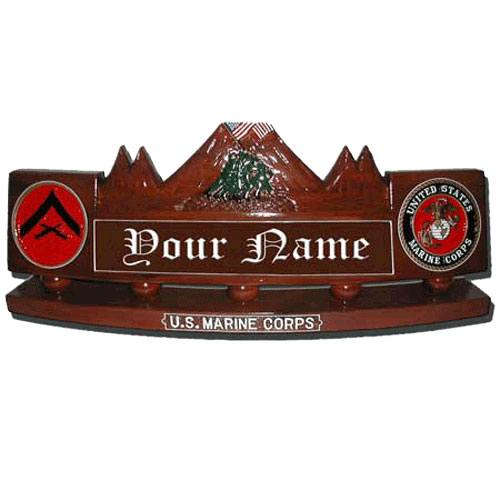 Iwo Jima Desk Nameplate Mount Suribachi