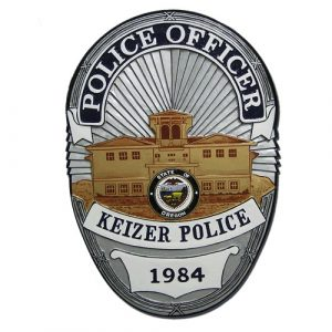 Keizer Oregon Police Officer Badge Plaque