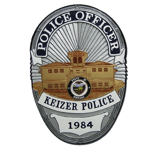 Keizer Oregon Police Officer Badge Plaque