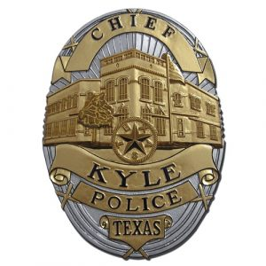 Kyle Texas Police Chief Badge Plaque