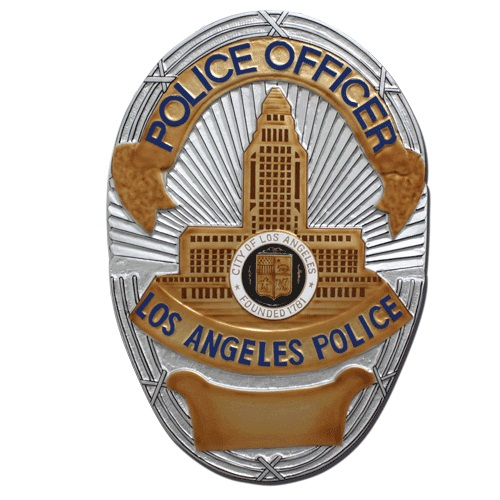 LA Police Officer Badge Plaque