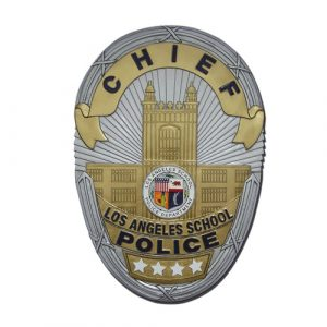 LA School Police Chief Badge Plaque