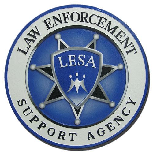 Law Enforcement Support Agency LESA Seal / Podium Plaque