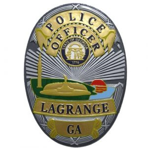 Lagrange GA Police Officer Badge Plaque