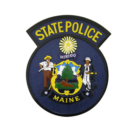 Maine State Police Patch Plaque