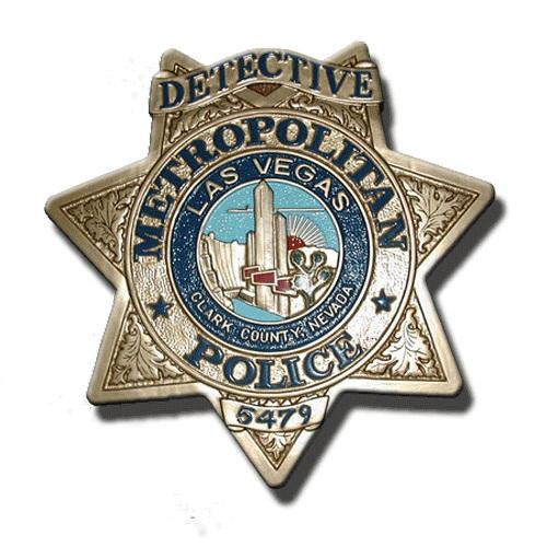 Las Vegas Metropolitan Police Badge Plaque