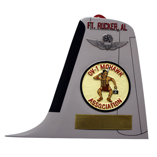 U.S. Army OV-1 Mohawk Tail Flash Plaque