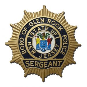 NJ Boro of Glen Rock Police Sergeant Badge Plaque