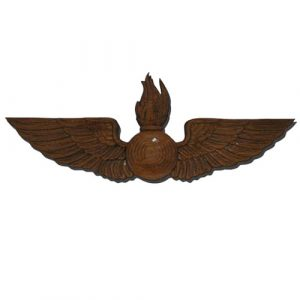 Navy Aviation Ordinance AO Wings Insignia Plaque