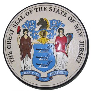 New Jersey State Seal Plaque