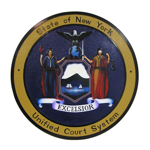 New York Unified Court System Seal / Podium Plaque