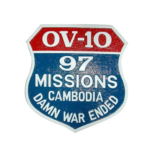 OV-10 Mission Patch Plaque