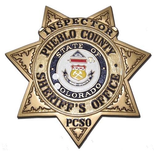 Pueblo County Sheriff's Office Badge Plaque