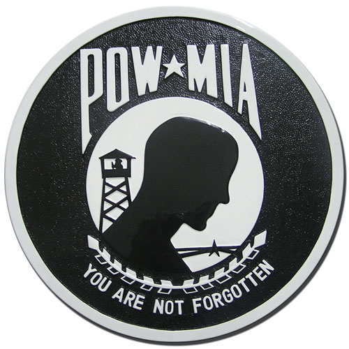 POW - MIA Missing in Action Seal Plaque