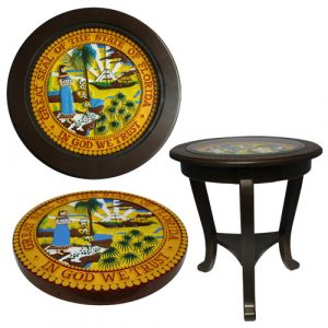 President Range State Seal End Table Model 1