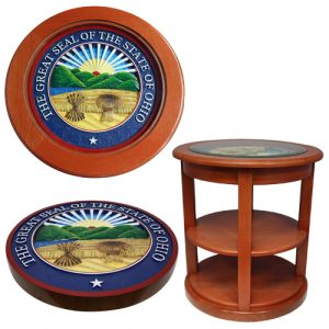 President Range State Seal End Table Model 2