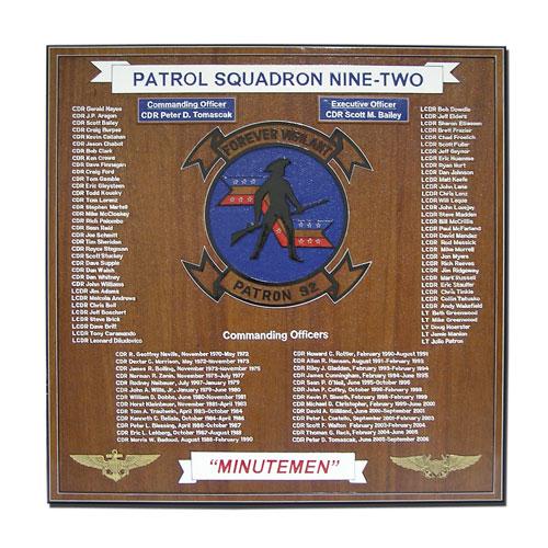 Patrol Squadron 92 Deployment Plaque