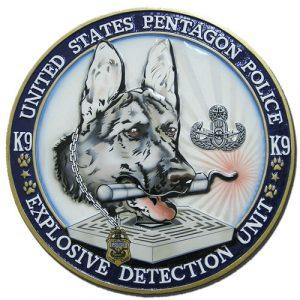 Pentagon Police Explosive Detection Unit K9 Seal