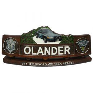 Police Patrol Car Desk Nameplate Model 2