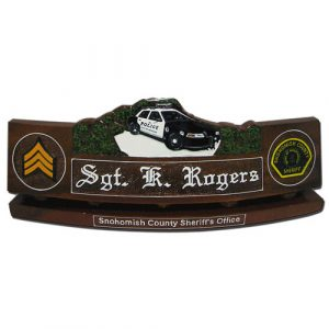 Police Patrol Car Desk Nameplate Model 3