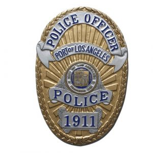 Port of LA Police Officer Badge Plaque