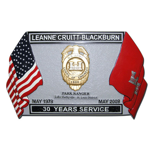 Presentation Retirement Plaque White