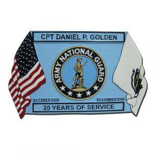 Presentation Retirement Plaque Infantry Blue