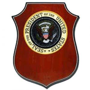 US President's Plaque