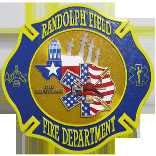 Randolph Field Fire Department Emblem