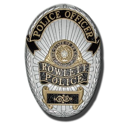 Rowlett Police Officer Badge Plaque