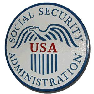 U.S. Social Security Administration Seal Plaque