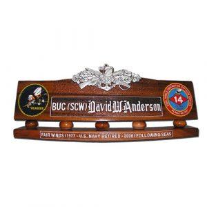 Seabee Combat Warfare Specialist Desk Nameplate