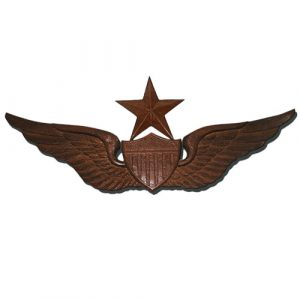 US Army Senior Pilot Wings Insignia Plaque