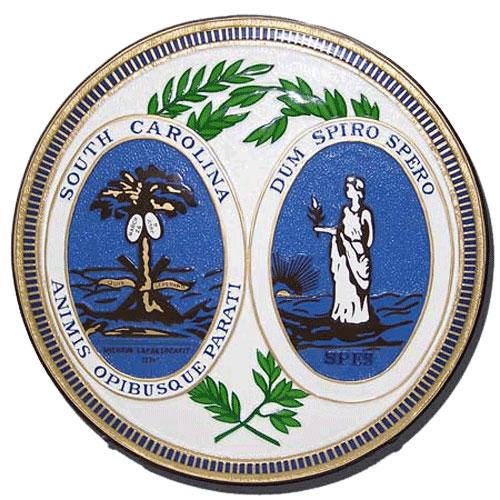South Carolina State Seal Plaque