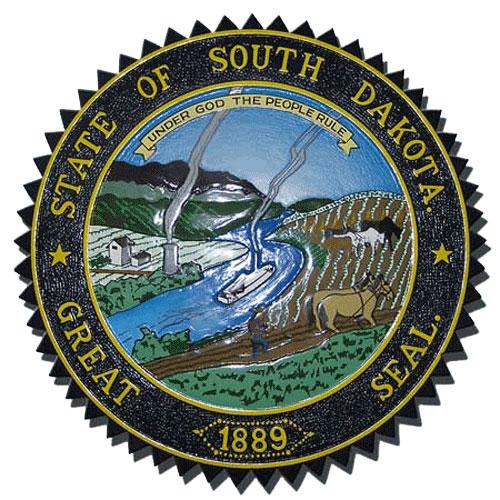 South Dakota State Seal Plaque