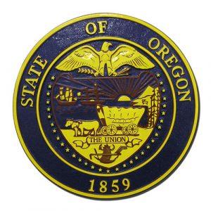 Oregon State Seal Plaque