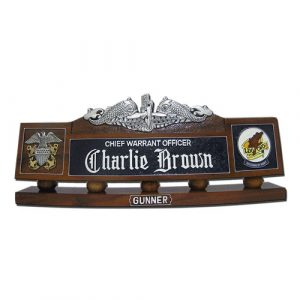 Submarine Warfare Insignia Desk Nameplate